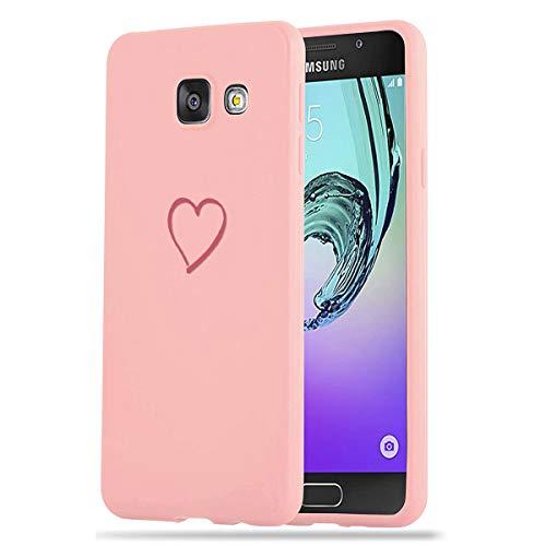 Zhuofan Plus Funda Samsung Galaxy A5 2016, Silicona Suave Rosada TPU Gel con Diseño Print Pattern Anti-rasguños Shockproof Protactivo Cover para Samsung Galaxy A5 2016, Amor