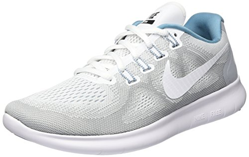 Nike Damen WMNS Free RN 2017 S Laufschuhe, Grau (Wolf Grey/Cerulean/Black/White), 38.5 EU