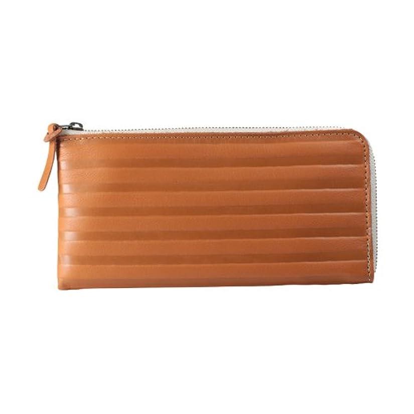 ハウジングあたたかい確認する【 Kanmi. カンミ 】 シマシマ L型 ロングウォレット 革製 レディース 長財布 ファスナー財布