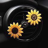 Inebiz - Deodorante per auto, decorativo, elegante, giallo girasole per interni auto - per ventola - porta-profumo