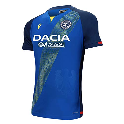 Udinese Calcio 1896 UDI M20 Offizielles Trikot Gara Away Mm Sr Away Udinese Fußball 2020/21 Herren XL blau