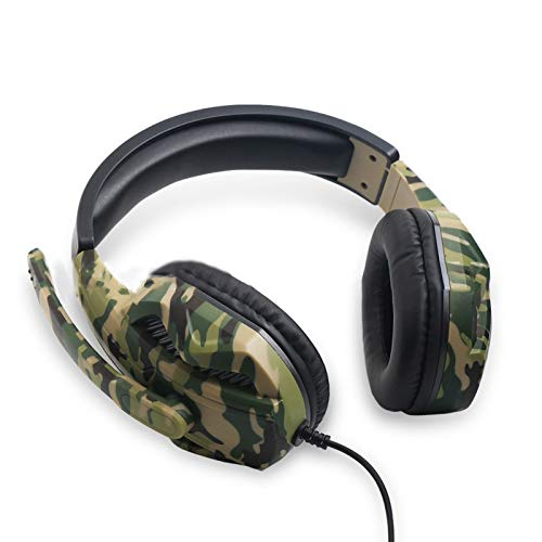 Not application Stereo Camouflage Gaming Headset Headphones Microphone for PS4 / PS3 / Headset Computer Switch Game Player