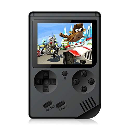 Handheld Games Console for Kids Adults - Retro Video Games Consoles 3 inch Screen 168 Classic Games 8 Bit Game Player with AV Cable Can Play on TV (Black)