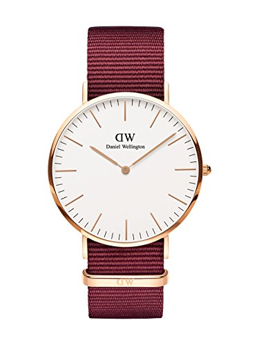 Daniel Wellington Herren Analog Quarz Uhr mit Stoff Armband DW00100267