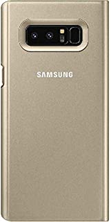 Samsung Clear View, Flip Cover Mobile Case, for (Samsung) Galaxy Note 8, Gold