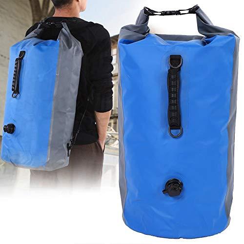 lahomie Bolsa Seca, IPX7 Impermeable Mochila Bolsa de Camping seco Bolsa de Secado Flotante Bolsa de Almacenamiento Rafting Bolsa de protección cámara Efectivo, 60 L, Blue and Grey