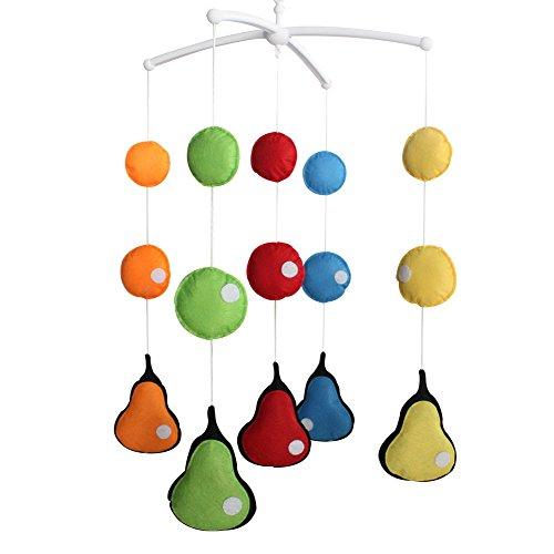 Berceau de lit de bébé rotatif coloré jouets de bébé [Perles colorées]