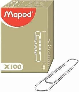 MAPED 48625 Boîte de 100 Trombones 77 mm