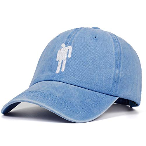 GZSC Sombrero Bordado papá Sombrero Hombres Mujeres algodón Hip Hop Cap Deportes Ocio Gorras de béisbol Moda Sombreros Unisex (Color : Sky Blue)