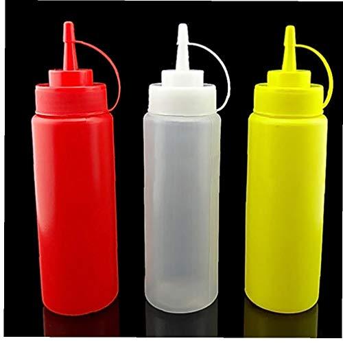 Angoter 1Pc 240ml Squeeze Bottiglia di Ketchup di Pomodoro Salsa di Senape di soia Salsa di Curry Aceto Container Drop Shipping Colore Casuale