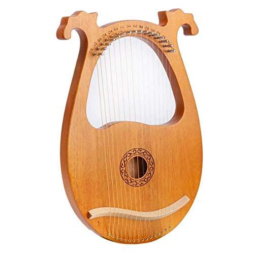 Tuneway Lyre Harp, 16 Holz Saitenharfe Massivholz Mahagoni Lyre Harfe mit Stimmschlüssel für Musikliebhaber Anf?nger