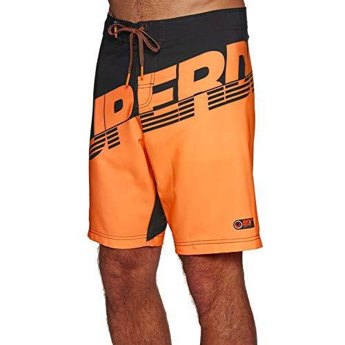 Superdry Hydro Boardshorts Large Black Havana Orange