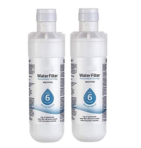 LNLJ 2 PCS Reemplazo del Filtro De Agua del Refrigerador De Primera Calidad, Reemplazable Fit Kit para LG LT1000P, LT1000PC, MDJ64844601, Kenmore 469980