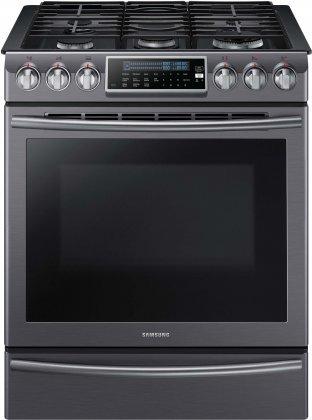 Samsung Appliance NX58K9500WG 30' Slide-in Gas Range with Sealed Burner Cooktop, 5.8...