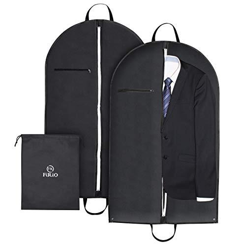 FR FiRiO® 2 x Premium Kleidersack Anzug Schutzhülle   Anzugtasche hochwertig + extrem stabil (120 GSM)   100 x 60 cm   Business Kleidersäcke für Reise und Aufbewahrung   mit genialem Travel eBook