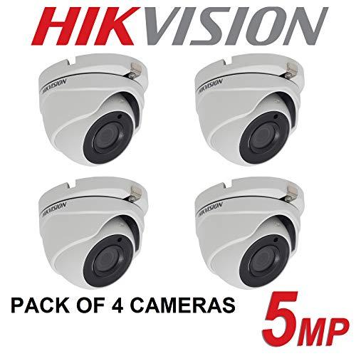 4 x {HIKVISION 5 MP 4 MP CCTV cámaras 4 en 1 TVI CVI AHD Full HD 20M EXIR Visión Nocturna UK}