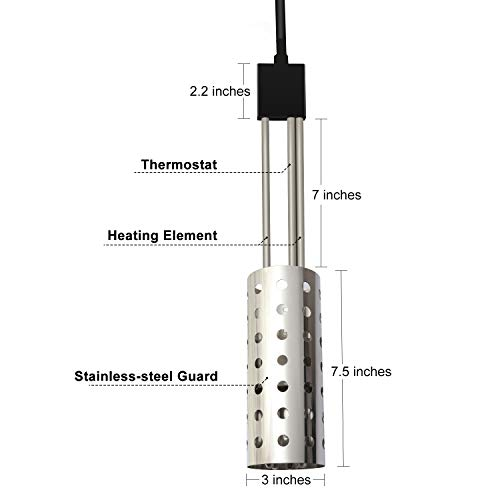 1500w Immersion Heater Gesail Ul Listed Bucket Water