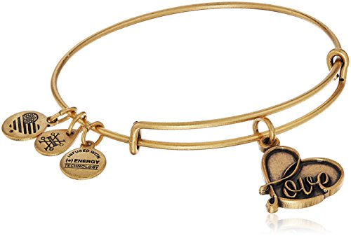Alex and Ani Love IV Rafaelian Gold Charm Bracelet