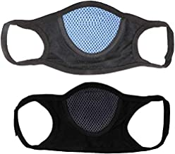 Prime Box Autoridez Cotton and Nylon Bike Face Mask Combo of 2 Pieces (Standard Size, Black)
