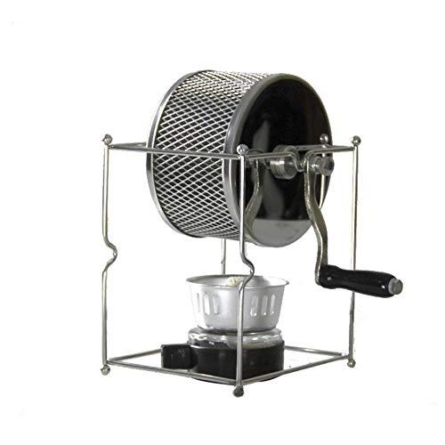 Koffiezetapparaat, koffiebrander Handslinger Mill geborsteld roestvrij staal handmatige Roller koffiebrander Small RVS broodbakautomaat for thuiskantoor Travel XIUYU