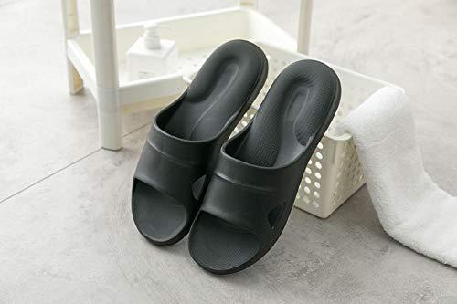 TDYSDYN Ideal para Ducha,Playa,SPA Zapatillas,Zapatillas en Forma de U Antideslizantes de Suela Gruesa para Parejas, Sandalias de casa Muy elásticas y cómodas-Negro_41-42