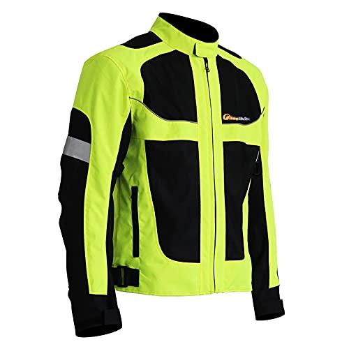 LISI 2021 Chaqueta de Moto Hombre con Protecciones Verano Motocicleta Armadura Respirable Elástico Motorcycle Jacket
