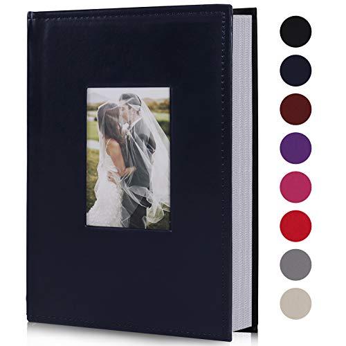 RECUTMS Photo Album 300 Pockets,4x6 Photo Book Paper Core Memo Insert Inside...