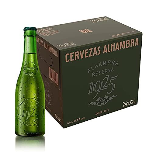 Alhambra Reserva 1925 Cerveza Dorada Lager - Pack de 24 Botellas x 33cl - 6,4% Volumen de Alcohol