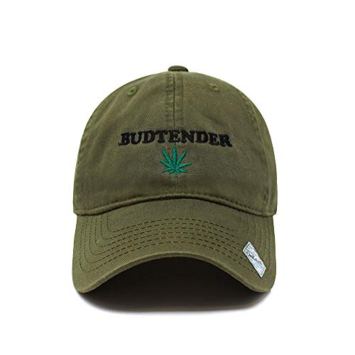 ChoKoLids Budtender Dad Hat Cotton Baseball Cap Polo Style Low Profile (Cotton Army Green)