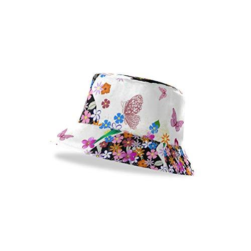 TropicalLife XIXIKO - Gorro unisex con diseño de hada de flores y parte superior plana, visera de verano, gorra de pescador, escuela y deportes al aire libre para hombres, mujeres y adolescentes