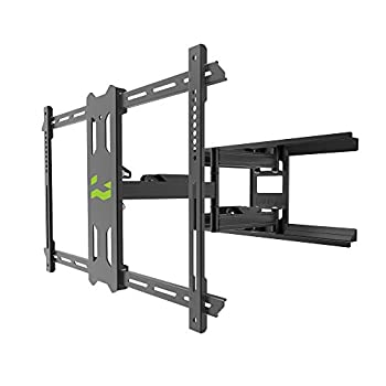 Kanto PDX650G Outdoor Full Motion Articulating TV Wall Mount for 37-inch to 75-inch TVs Up to 125 LB | Galvanized Steel Arms | Integrated Cable Management | Low Profile and 22 in Extension