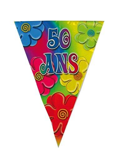 Part Pro 40133808 Guirlande 50 ans Multicolore 4 m