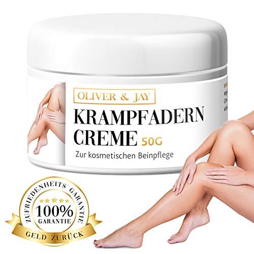 Krampfadern Creme zur kosmetischen Beinpflege │ Krampfadern natürlich behandeln & Besenreiser entfernen│ 100% natürlich von Oliver & Jay