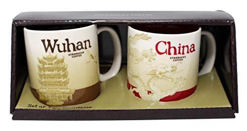 Starbucks Global Icon Mini Series Demitasse Mugs, Wuhan and China