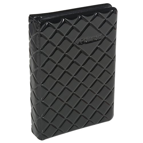 (Black) - Polaroid 64-Pocket Photo Album w/Sleek Quilted Cover For 3x4 Photo Paper (Pop) - Black