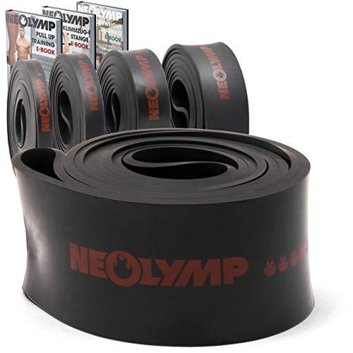 NEOLYMP Premium Pull Up Fitnessbänder | Perfekt für Muskelaufbau und Crossfit Freeletics Calisthenics | Fitnessband Klimmzugbänder Widerstandsbänder | Schwarz X Heavy | Stufe 5 | HRB320