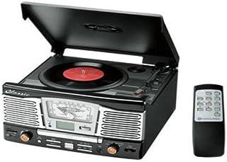 VERTEX ヴァーテックス クラシックマルチレコードプレーヤー ブラック MRP-V001BK