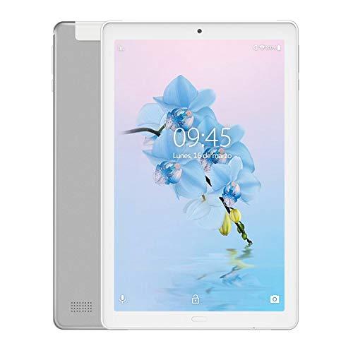 YESTEL X2 Tablet 10 Pulgadas,  3GB+32GB,  Android 8.1,  Tableta con Funda Protectora,  4 Core,  8000mAh,  1280X800 HD IPS,  Soporte 4G WiFi/Dobles SIM,  FM, Plata