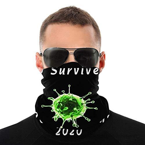 I Survived C-Oronav-Irus 2020 Maschera Antivento Protezione Solare Testa Sciarpa Protezione Uv Collo Ghetta Passamontagna Bandana