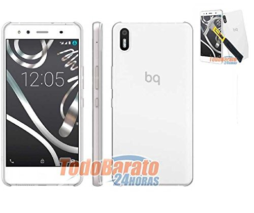 Todobarato24h Funda TPU Lisa Compatible con BQ AQUARIS X5 Transparente + Protector...