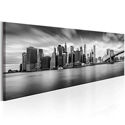 murando Quadro su Vetro Acrilico Panorama 135x45 cm 1 Parte Quadro Moderno Impreso Stampa Immagini Murale Fotografia Decorazione da Parete New York Citta City NY d-B-0154-k-a