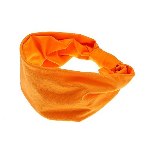 YAZILIND estiramiento de tela ancha accesorios para el pelo de la diadema de los deportes de lavado de las niñas sombreros retro bufanda