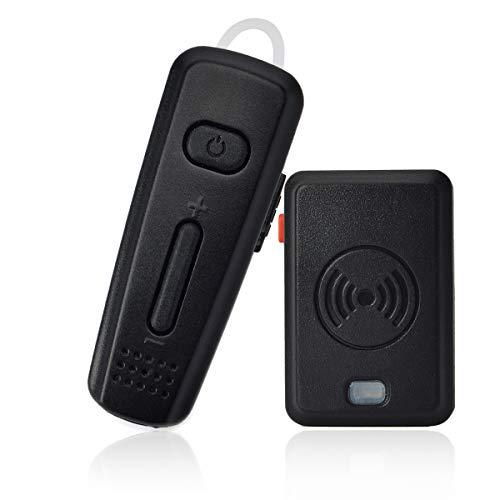 HYS 2 Pin Walkie-Talkie Wireless Earpiece Bluetooth Headset with PTT MIC for Motorola RMM2050 GP300 CP200 PR400 CLS1110 Yaesu FT-4XR FT-4VR FT-65R FT-25R Handheld 2-Way Radio