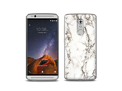 etuo Handyhülle für ZTE Axon 7 Mini - Hülle Fantastic Hülle - Weißer Marmor - Handyhülle Schutzhülle Etui Hülle Cover Tasche für Handy