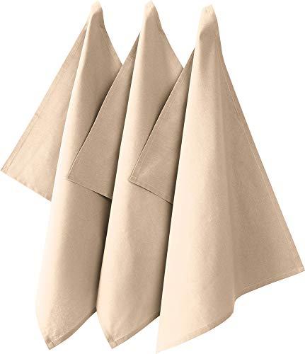 """REDBEST Geschirrtuch\""""Seattle\"""" 3er-Pack Baumwolle beige Größe 50x70 cm"""