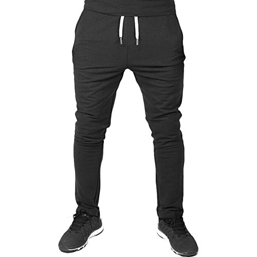YOcheerful Mens Trousers Men Sport Jogging Trousers Fitness Pant Loose Sweatpants Drawstring Pants Sportswear Pants