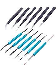 AZDelivery Lötset aus 6 x Lötbesteck Lötwerkzeug + 6 x antistatische Pinzetten Parent