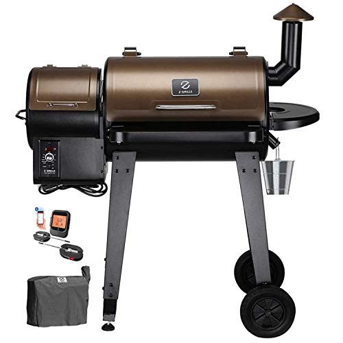 Z GRILLS ZPG450APRO Wood Pellet Grill Smoker for Outdoor Cooking with Wireless Meat Probe Thermometer 2020 Upgrade 8in1 amp Pid Controller