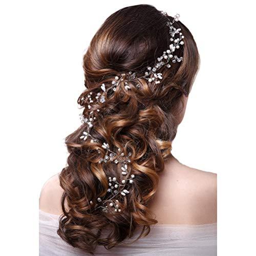 Haardraad voor bruiloft, haaraccessoires, haardraad, parels, strass, bruidssieraden, haarkam, communie, hoofdtooi voor vrouwen en meisjes