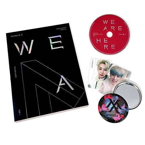 MONSTA X 2nd Album : TAKE.2 - We Are Here [ I ver. ] CD + Photobook + Photocards + OFFICIAL POSTER + FREE GIFT / K-pop Sealed